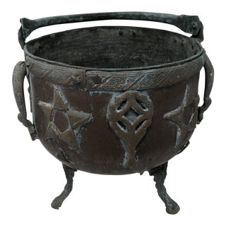 Antique Iron Cauldron For Sale