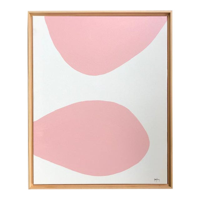 Blush Modern Art Painting by Tony Curry For Sale