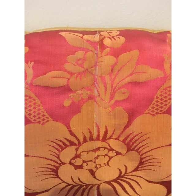 2000 - 2009 Vintage Fuschia & Gold Silk Pillows - a Pair For Sale - Image 5 of 8