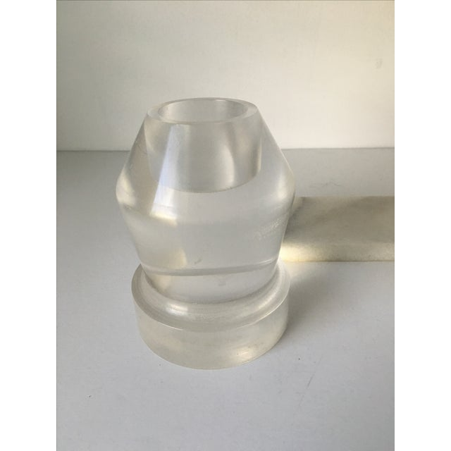 Modern Candle Holders on Marble Slab - Set of 4 For Sale - Image 5 of 6