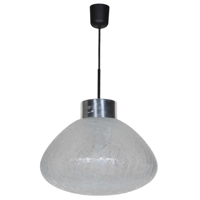 Textured Glass Pendant Fixture, Germany For Sale