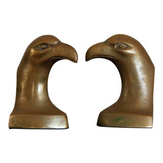 Brass Eagle Bookends- A Pair For Sale