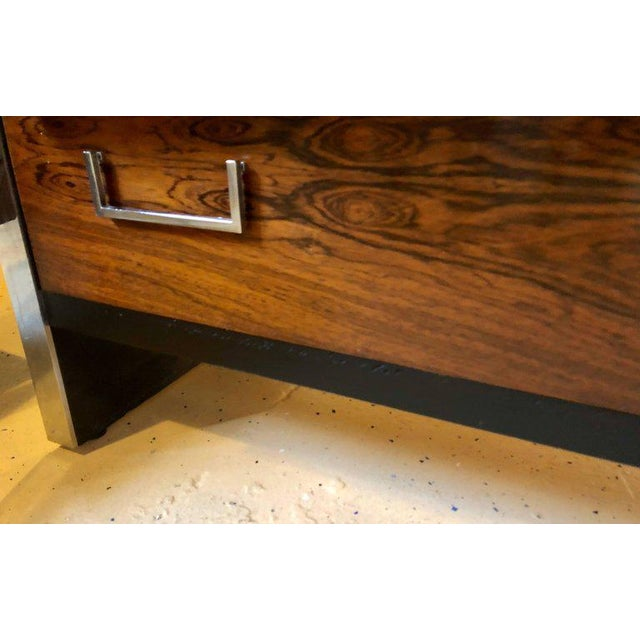 Milo Baughman for John Stuart Mid-Century Modern Ebony High Chest Commode - Image 10 of 11