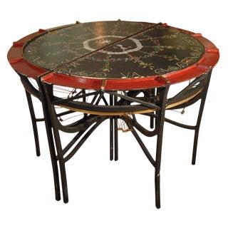 19th Century Vintage Lace Maker's Tables- A Pair For Sale