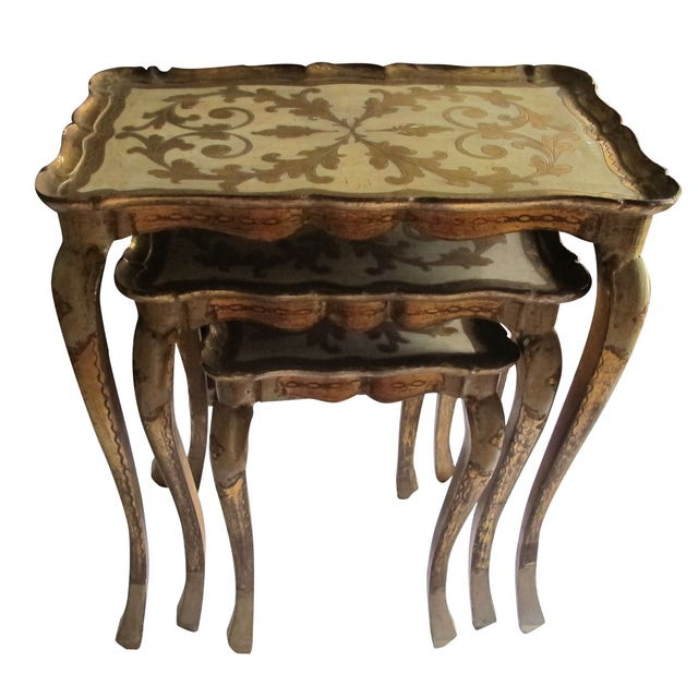 Venetian Nesting Tables 1960s - S/3 - Image 1 of 5