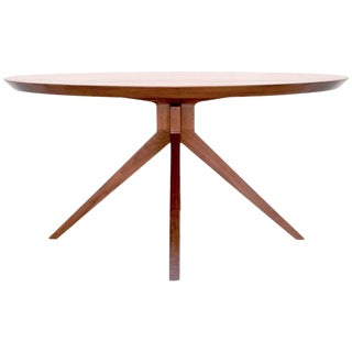 'Sputnik' Dining Table in Solid Walnut, Built to Order by Petersen Antiques