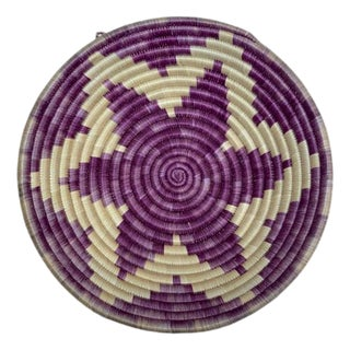 African Purple Grass Basket For Sale