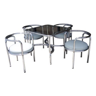 A Gae Aulenti Locus Solus Game/Dining Table- 5 Pieces For Sale