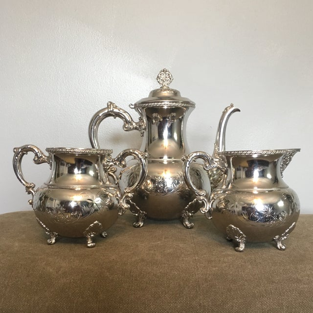 19th Century Victorian Homan Silver Co. Silver Plated Coffee Service - 3 Pieces For Sale - Image 10 of 10