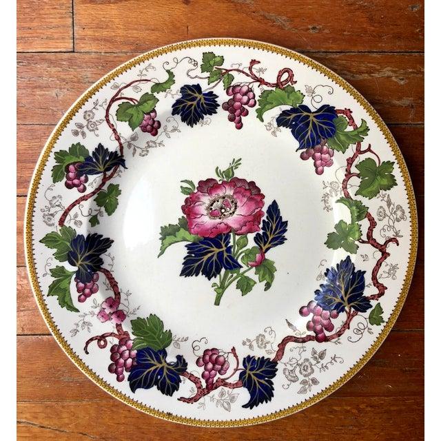 "Antique Wedgwood Floral ""Vine"" Plate For Sale - Image 9 of 9"