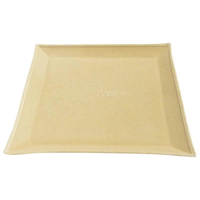Ivory Shagreen Tray by Fabio Ltd For Sale