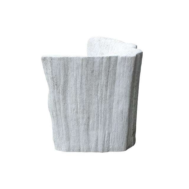 """Contemporary Zachary A. Design Natural Concrete Finish Cast Resin """"Acacia"""" Chair For Sale - Image 3 of 8"""
