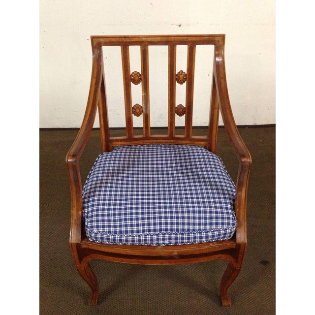 Antique Carved Walnut Armchair - Image 3 of 6