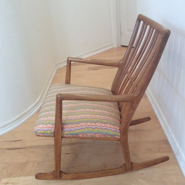 Vintage Hans Wegner rocking chair bought at auction. This was Wagner's first rocking chair design. Low profile with...
