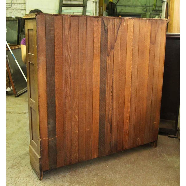 Wooden Narrow Bookcase For Sale - Image 4 of 4