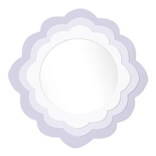 Fleur Home x Chairish Audobon Magnolia Circle Mirror in Spring Iris, 24x24 For Sale