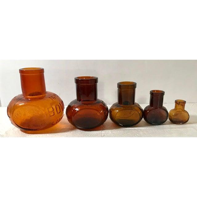 Antique Brown Bovril Bottles - Set of 5 For Sale In Dallas - Image 6 of 9