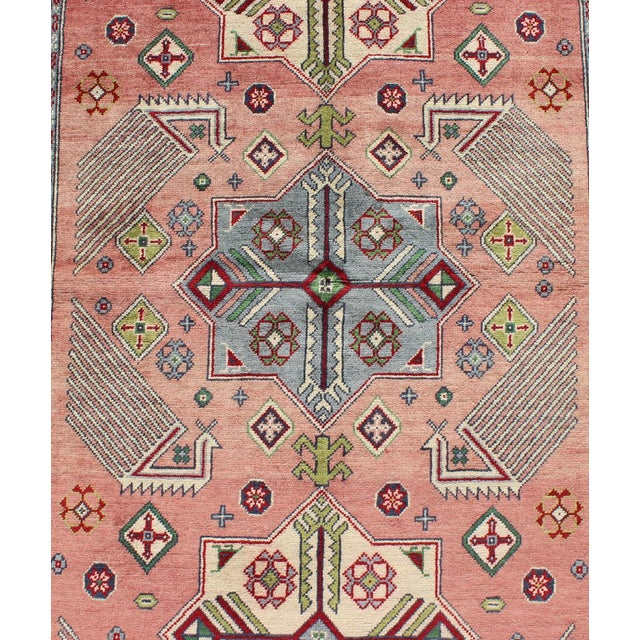 Orange 1950s Semi Antique Afshar Rug - 4′ × 6′ For Sale - Image 8 of 12