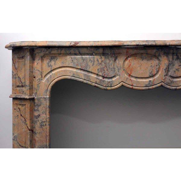 French Pompadour Marble Mantel For Sale - Image 5 of 7