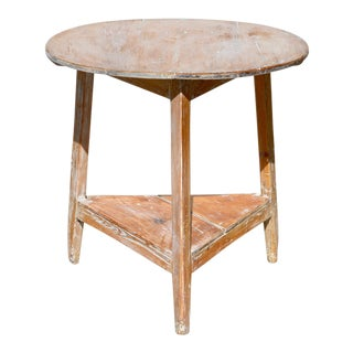 English Cricket Table of Pine For Sale