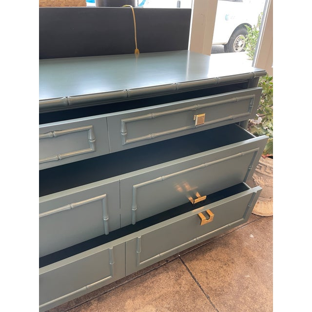 Mid-Century Modern 1960s Thomasville Chinoiserie Allegro Lowboy Dresser/Chest For Sale - Image 3 of 10