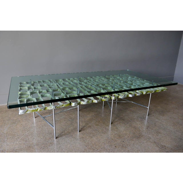 Donald Drumm 1970s Sculptural Brutalist Coffee Table By Donald Drumm For Sale - Image 4 of 11