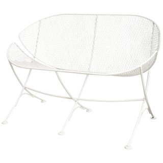 White Patio Settee by Salterini For Sale