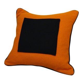 Modern Orange Wool Decorative Pillow For Sale