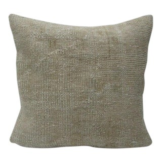 Vintage Turkish Beige Handmade Pillow Cover For Sale