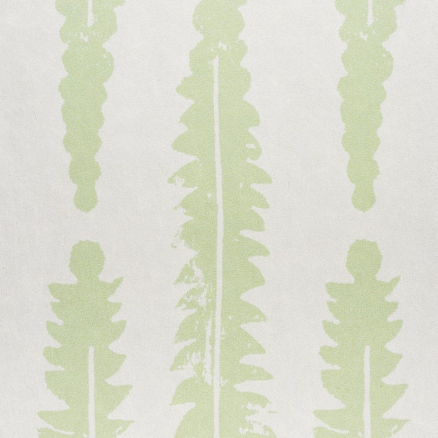 Schumacher Sample - Schumacher x Molly Mahon Fern Wallpaper in Sage For Sale - Image 4 of 5