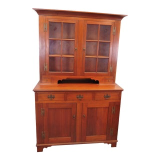 Cherry Benchmade Country Dutch Cupboard For Sale