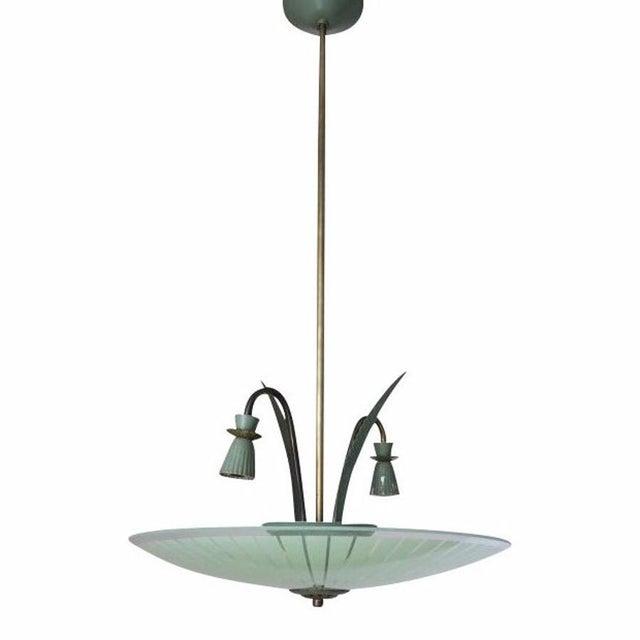 1950s Green Pendant by Stilnovo For Sale - Image 5 of 5