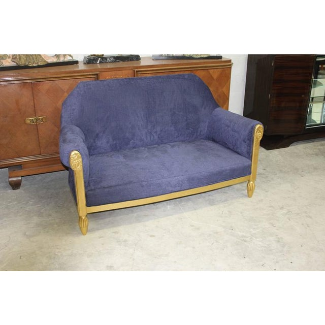 French Art Deco Paul Follot Settee & Chairs - Set of 3 For Sale - Image 5 of 10