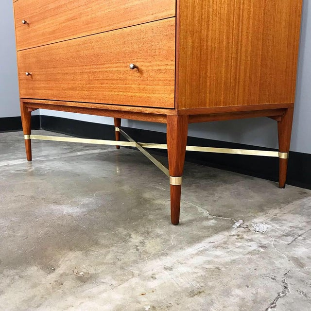 Mid-Century Modern Early & Rare Mahogany Dresser by Paul McCobb for Calvin For Sale - Image 3 of 11