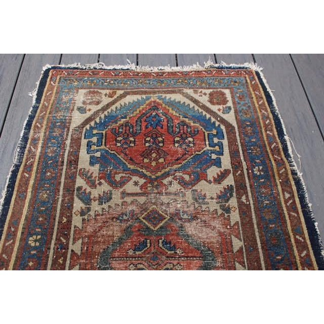 """Antique Persian Rug - 2'9"""" x 4'5"""" - Image 6 of 9"""