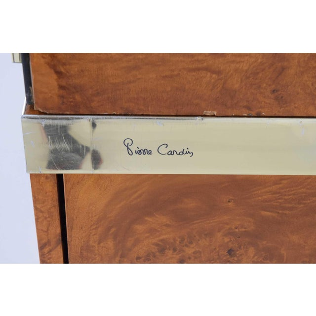 1970s Pierre Cardin Signed Burl Wood Sideboard With Two Tower Cabinets, France For Sale - Image 11 of 13