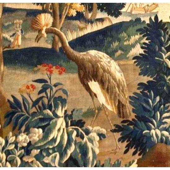 Antique Verdure Tapestry For Sale - Image 4 of 6