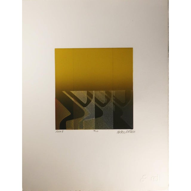 """Line III"" is an aquatint etching by Carlos Davila, a Peruvian artist. Aquatint involves an artist making marks on a..."