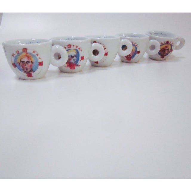 illy Espresso Cups by Julian Schnabel, 2005 - S/5 - Image 4 of 11