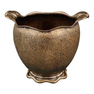 Elegant Silver Italian Vase For Sale
