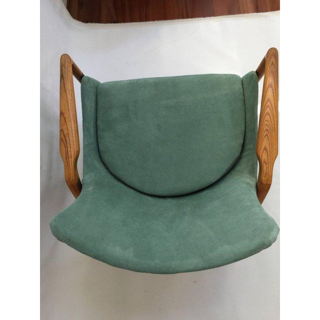 Teal Mid-Century Modern 'Seal' Lounge Chair by Ib Kofod-Larsen For Sale - Image 8 of 11
