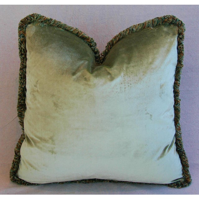 """21"""" Custom Italian Fortuny Piazzetta & Boucher Feather/Down Pillows - Pair - Image 9 of 10"""