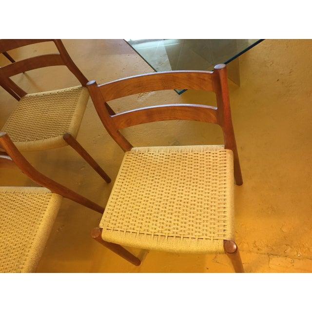 Niels Otto Møller for j.l. Møller Teak Dining Chairs, Model 84 - Set of 4 For Sale - Image 9 of 13