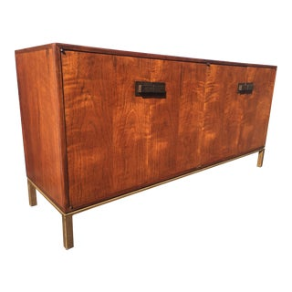1960s Mid-Century Modern Milo Baughman for Founders Walnut Credenza For Sale