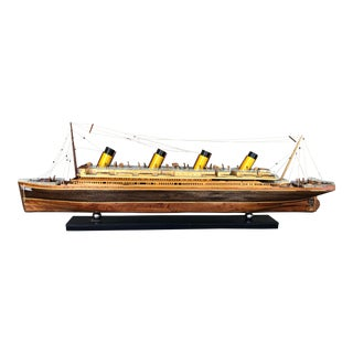 "Vintage Wooden ""Titanic"" Replica Model For Sale"