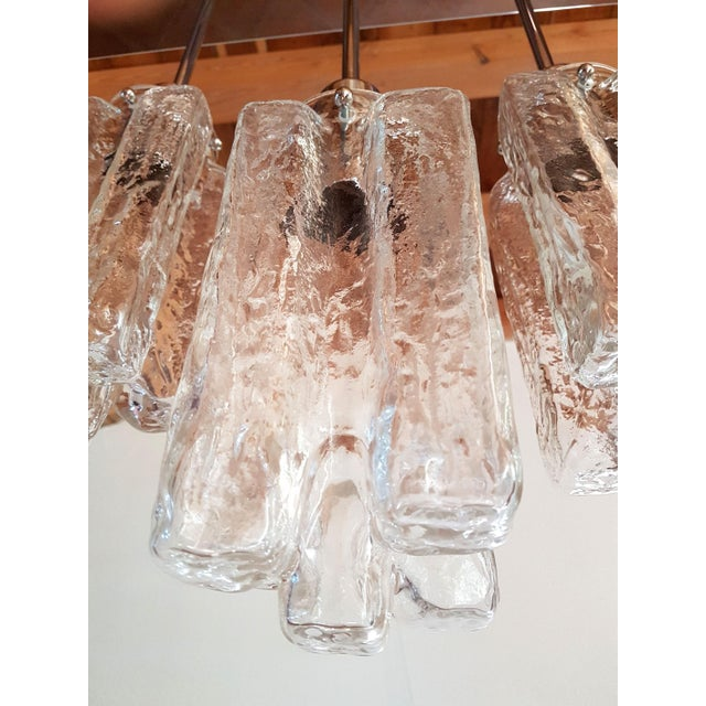 2010s Contemporary d'Lightus Chrome & Murano Glass Bespoke Chandelier For Sale - Image 5 of 11