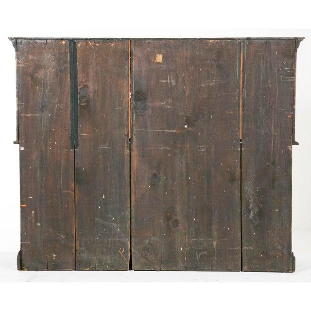 19th Century English Elizabethan Style Dark Stain Oak Cupboard For Sale - Image 4 of 6