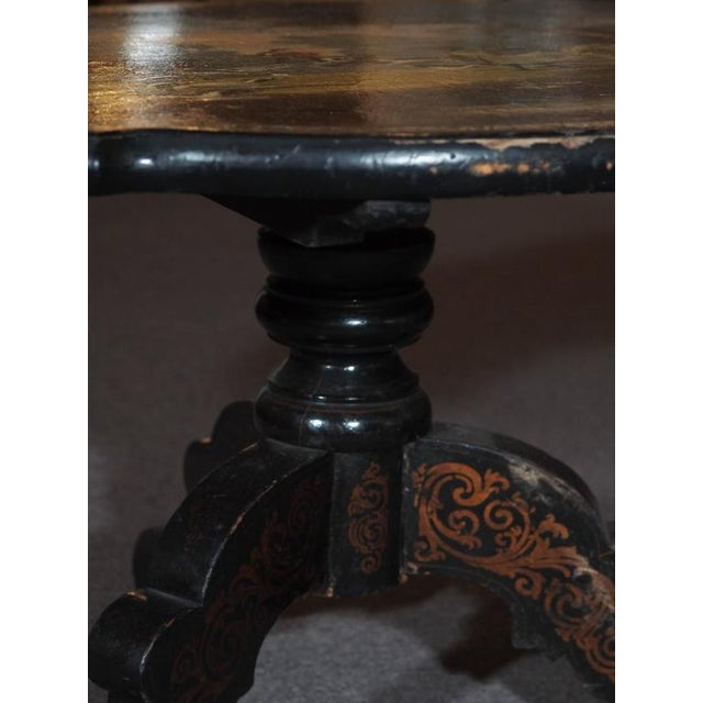 Mother-of-Pearl Antique English Victorian Coffee Table For Sale - Image 7 of 11