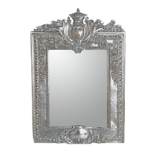 Louis XVI-Style Silverplated Table Mirror / Frame For Sale