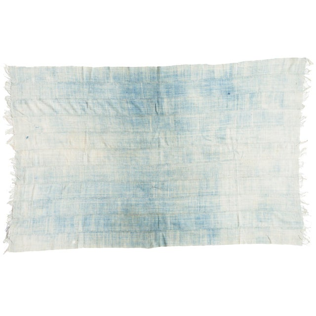 """Vintage African Textile Throw - 3'6"""" X 5'5"""" - Image 1 of 4"""